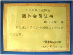 中国模具协会证书